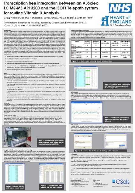 CSols - Vitamin D - Instrument Interfacing at Heartlands Hospital